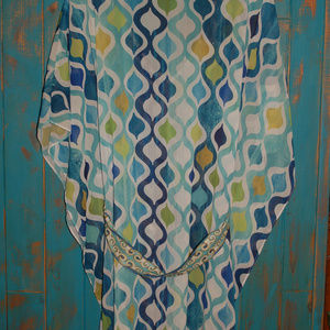 TRINA TURK TUNIC TOP BLOUSE GEOMETRIC SIZE LARGE